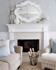 Fireplace Mantels Charlotte Nc by Chic Living Room Design With Gray Walls Paint Color