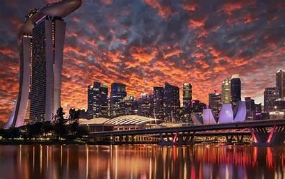 Singapore 4k Wallpapers Marina Bay Sands Skyscrapers
