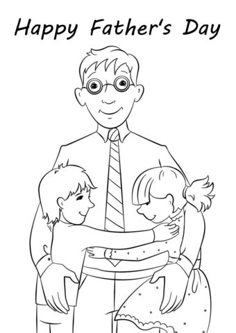 happy fathers day coloring page  printable coloring