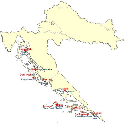 Carte Des Plages De by Les Plus Belles Plages En Croatie Top 10 Des Plages De