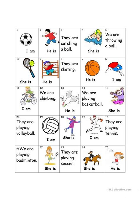 sports board game english esl worksheets  distance