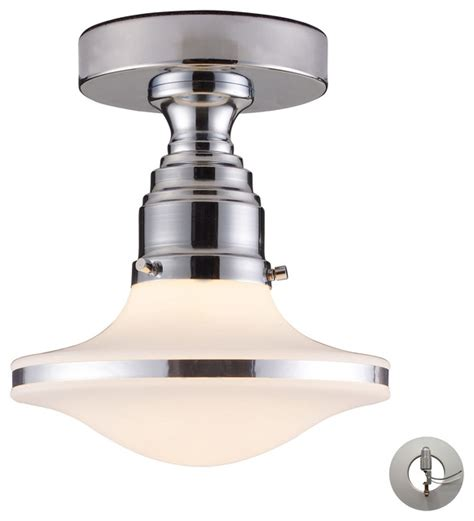 retrospective 1 light semi flush polished chrome with