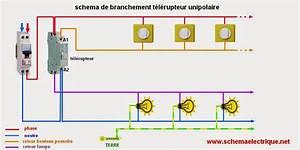 Cablage Bouton Poussoir : schema electrique branchement cablage ~ Nature-et-papiers.com Idées de Décoration