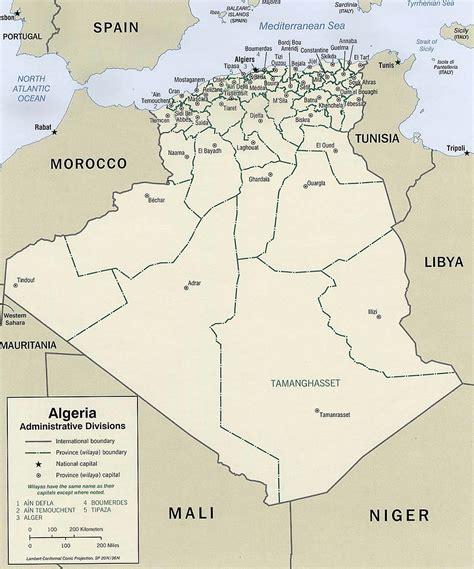 Carte Geographique Villes Algerie by Carte Alg 233 Rie Administrative Carte Alg 233 Rie