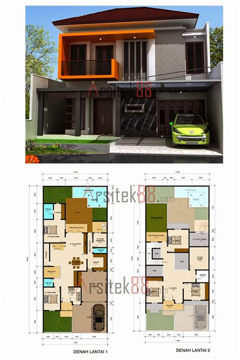 gambar rumah minimalis  lantai beserta denahnya