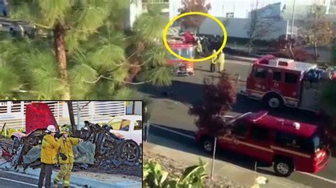 Paul Walker Dies car crash - Paul Porsche Car on fire