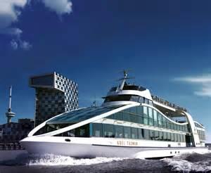 Rotterdam Cruise Ship in Harbor