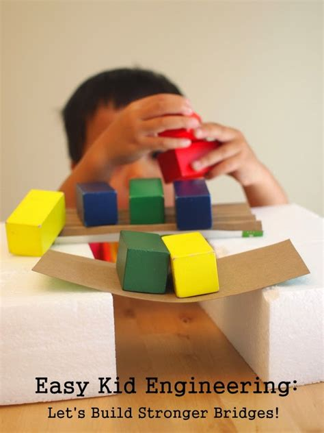 building cardboard bridges kid engineering pink 609 | 1 build stiffer bridges
