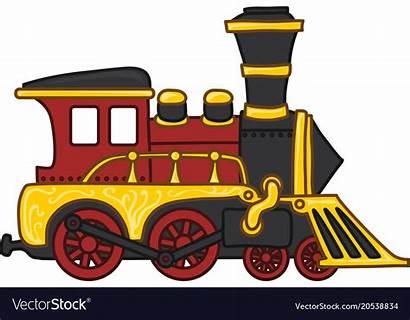 Train Cartoon Toy Vector Drawing Illustration Vectorstock