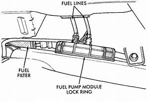 Where Is The Fuel Filter Located On A 98 Chrysler Cirrus