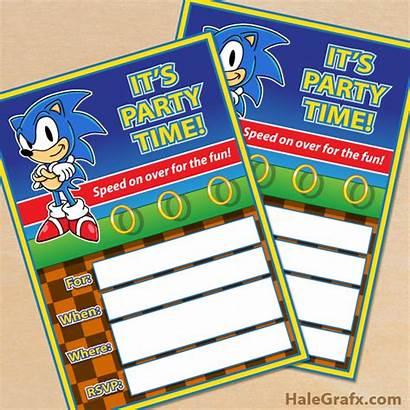 Sonic Hedgehog Printable Party Invitation Printables Birthday