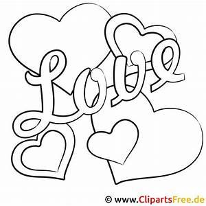 Love, Bild, Zum, Ausmalen