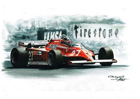 Check out amazing ferrari artwork on deviantart. 1981 Ferrari 126ck Painting by Artem Oleynik
