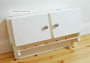 Handtuchhalter Weiß Metall : k chenh ngeschr nkchen mit handtuchhalter weiss antik 50er jahre ~ Markanthonyermac.com Haus und Dekorationen