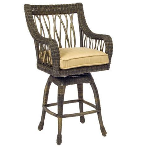 serengeti wicker bar stool by woodard garden furniture
