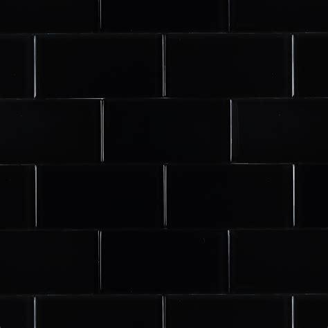 Shop For Loft Classic Black Polished 3x6 Glass Tile At