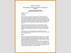 Simple Report Writing Template Templates Station