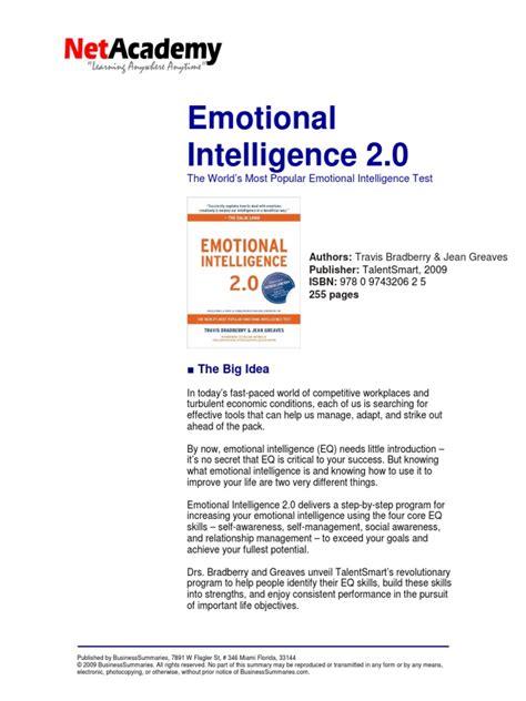 Emotional Intelligence 20 By Travis Bradberry Summarypdf