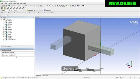 ansys design modeler imprint face basic tutorial