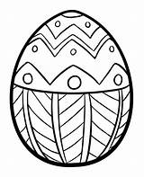 Easter Egg Coloring Simple Creative Ads sketch template