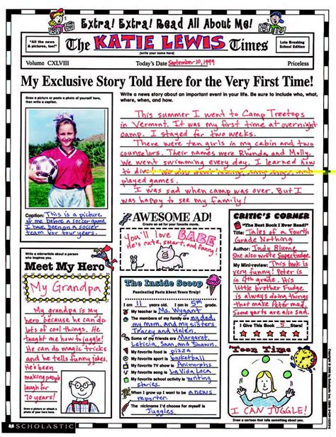 Read Poster Template by Scholastic Instant Personal Poster Set School Specialty