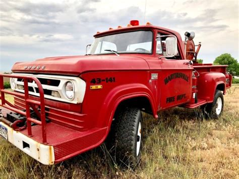 A very desirable 1970 4x4 dodge power wagon with sweptline short wide bed. RARE 1970 Dodge W300 POWER WAGON Fire Truck - 26k Miles ...