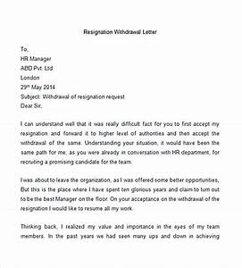 30+ Letter of Resignation Template Free Download