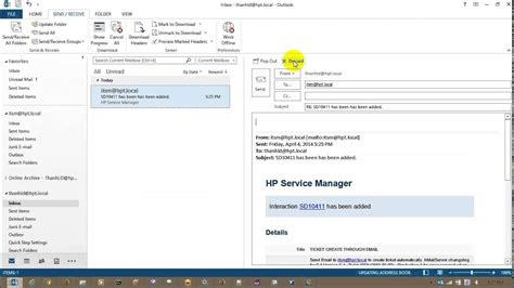 hp service manager create update ticket  email youtube