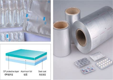 op al vc aluminum lidding foil blister aluminum foil  heat sealing