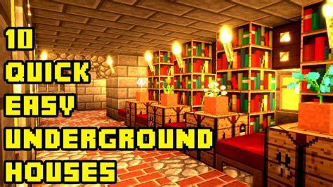 minecraft  quick  easy underground house tutorials xboxpepcpsps youtube