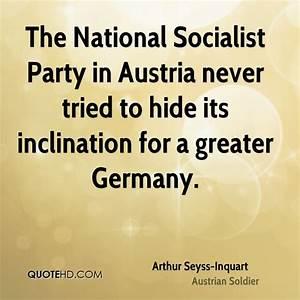 Arthur Seyss-In... Socialist Party Quotes
