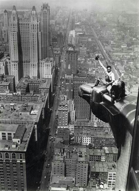 Chrysler Building Eagle by Aug 8 1932 Two Workers Clean Eagle Ornamentment On