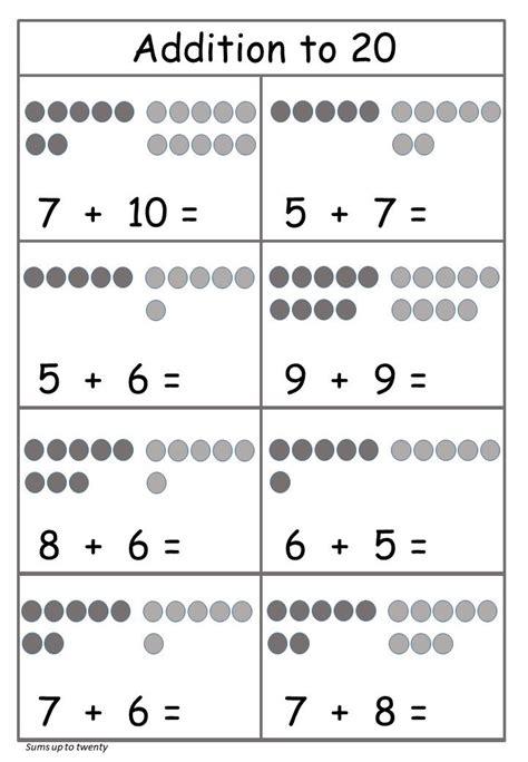 addition   worksheet circles  worksheet