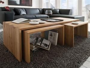 Beistelltisch Holz Massiv : massivholz 3x couchtisch beistelltisch kernbuche massiv holz ~ Indierocktalk.com Haus und Dekorationen