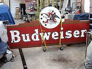 V 9 Budweiser porcelain neon sign Roadrelics Neon Signs