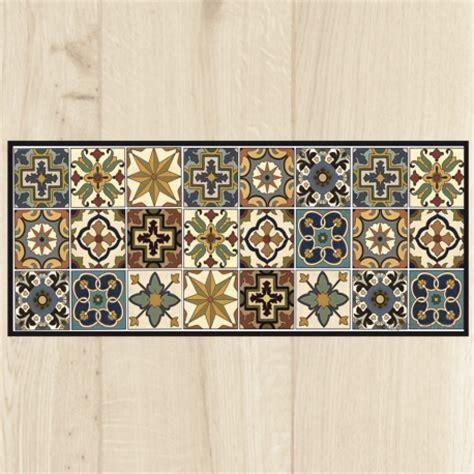 tapis de cuisine tapis cuisine carreaux vintage
