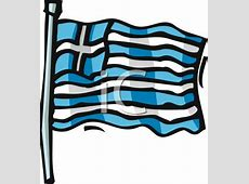 Royalty Free Greece Flag Clipart