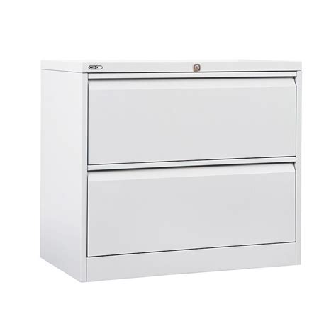 GO 2 Drawer Lateral Filing Cabinet White   Officeworks