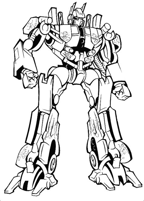 transformer optimus prime printable colouring sheet
