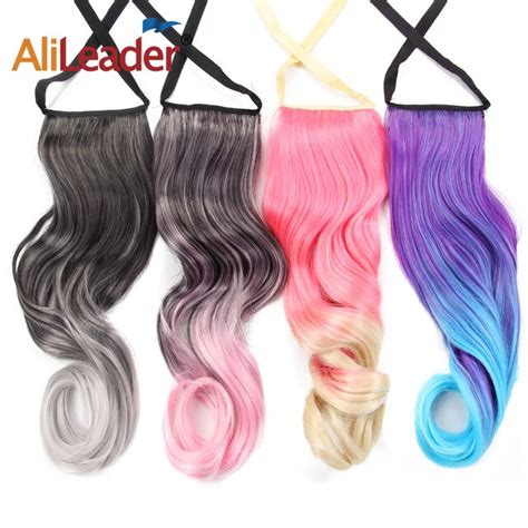 Alileader Short Curly Ponytails Clip In Fake Hair