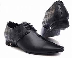 LOUIS VUITTON DAMIER GREY DRESS SHOES