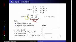 Cumulative Distribution Functions -- Example 1