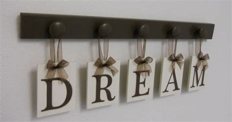 dream sign wooden monogram wall hanging letters wood