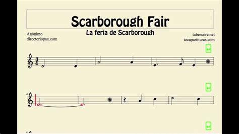 Scarborough Fair Sheet Music For Flute Recorder Violin