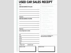 Used Car Sales Receipt FREE DOWNLOAD Freemium Templates