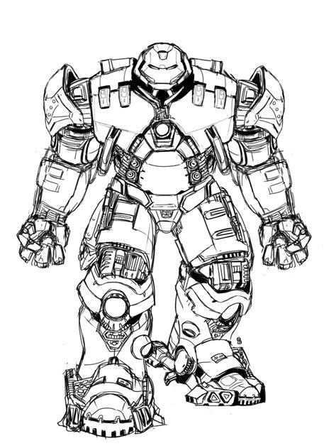 iron man hulkbuster coloring pages  coloring