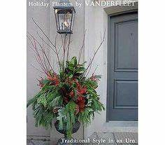 Winter Christmas Outdoor Planters & Urns on Pinterest