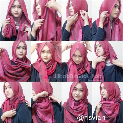 tutorial style hijab pashmina simple simpangcom
