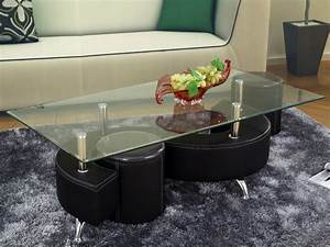 Table Basse Noir Laqué : table basse design en verre alicia noir structure laqu noir 58454 ~ Teatrodelosmanantiales.com Idées de Décoration