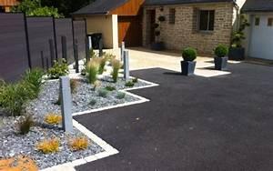 cour en enrobe et pave cg18 jornalagora With marvelous amenagement jardin avec pierres 17 maconnerie de jardin